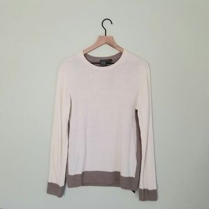 NWT Armani Exchange Color Block Knit Wool Sweater